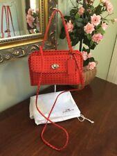Coach Mini 34471 Red Dot Print Cady Satchel Bag Purse Crossbody Leather B2A