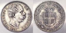 2 LIRE 1887 UMBERTO I ITALIA ITALY Spl/Q.Fdc XF/A.Unc ARGENTO SILVER #PF1170