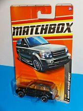Matchbox 2011 VIP Series #35 Range Rover Sport Mtflk Black HTF