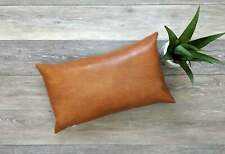 Noora Genuine Leather Tan Color Lumbar  Pillow Cover/Cushion Cover QD472