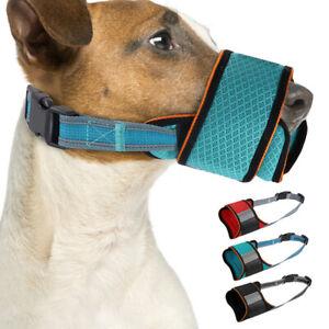 Adjustable Nylon Pet Dog Safety Muzzle Biting Barking Chewing Small Medium Large