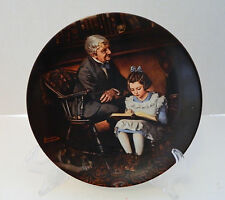 The Young Scholar Fifteenth Plate Norman Rockwell Heritage Collection No Coa Box