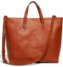 Madewell $188 Zip Top Transport Carryall English Saddle Brown Bag Purse H2584