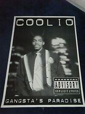 COOLIO SIGNED POSTER