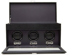 Watch Winder Case Automatic Triple Watchwinder Storage Box Battery Electric Wind