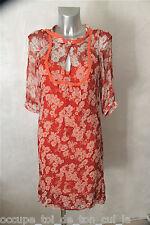 luxueuse robe fleurie 100% soie MAJE modèle fripouille taille 2 * COMME NEUVE *