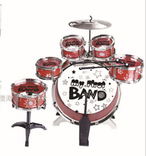 New Listing6 Drum Set/Kit Stool Sticks chair Musical instrument Toy Best Xmas Gift for kids