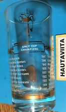 1955 CFL Grey Cup Champion Juice Drinking Glass Edmonton Eskimos Football Canada