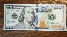 $ 100 AMERICAN DOLLAR BILL STAR NOTE 2009 SERIAL NUMBER JL14702051 ☆ crispy new