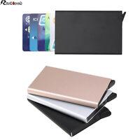 Men RFID Blocking Slim Money Clip Wallet Credit Card Holder Aluminum Xmas Gift