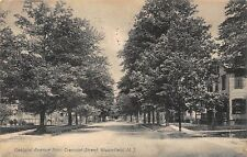 NJ - 1910's Oakland Ave from Tremont St at Bloomfield, New Jersey - Essex County