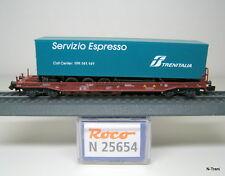 """Roco N 25654 - Vagone Sdgkkmss delle FS con semirimorchio """"Servizio Espresso"""""""