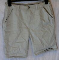 Boys Primark Beige Pale Grey Chino Denim Adjustable Waist Shorts Age 14-15 Years