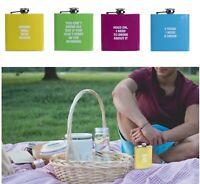 175ml Portable Stainless Steel Pocket Purse Hip Flask Beverage Cap Bottle Travel