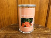 Yankee candle Tropical Tulips large glass jar tumbler 2-wick scented 22 oz new