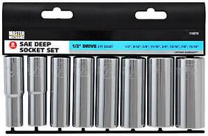 8-Pc. SAE Deep Socket Set, 1/2-In. Drive -119070
