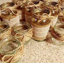 10 X Mixed Glass Jars - Vases - Vintage - Wedding Centrepiece Shabby Chic Empty