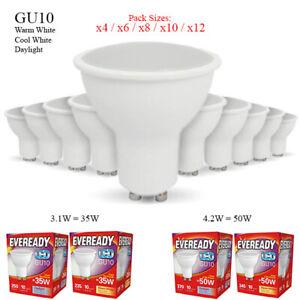 GU10 LED 4.2W = 50W 35W Spot Light Bulb Lamp Down Light Warm White Cool Daylight