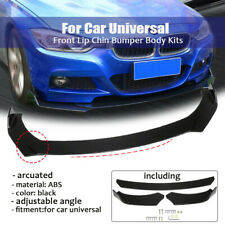 Universal Front Bumper Lip Chin Splitter Body Side Kit Spoiler Protector For Car