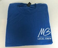 New 2019 Michael Buble Concert Tour Local Crew T-shirt size L Large Royal Blue
