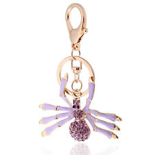 Handbag Buckle Charms Accessories Purple Spider Keyring Key Ring Chains HK117