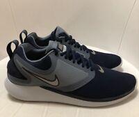 hot sale online 4c3da e9ddd Men s Nike LUNARSOLO EL RUNNING SHOES OBSIDIAN BLUE WOLF GREY AJ1665 400  Size 11