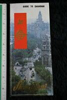 Vintage Shanghai China, 1980s, Travel, Tourist, Brochure, Map Guide