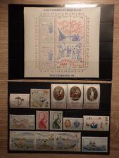 Timbres Stamps SAINT PIERRE MIQUELON Neufs ANNEE 1989 Complete ** MNH Bloc