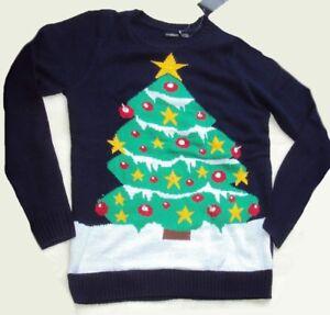 lustiger Herren Pullover Weihnachten Weihnachts Pullover Tannenbaum leuchtet M .