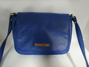 Tommy Hilfiger Blue Faux-Leather Cross Body Bag