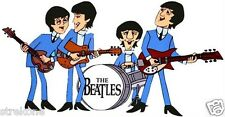 The Beatles Animated cartoon John Paul George Ringo WindoCling Decal Sticker New