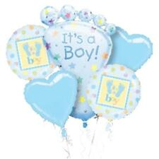 Large It's A Boy Baby Footprint Helium Balloon Bouquet (5)
