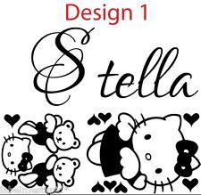 Hello Kitty Wall sticker with Any Custom Name - Girls room
