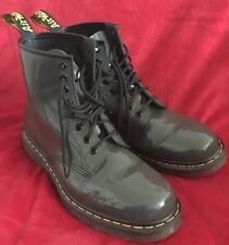 Dr. Martens Patent Leather Boots Men's 9 Women's 10/10.5 - Gray