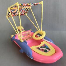 BARBIE Speedboat Dolphins Water Skiing Life Savers MATTEL 1990 TOY Doll Boat