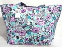 Vera Bradley Lighten Up Large Family Tote Bag Penelope's Garden HUGE