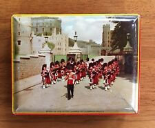 Vintage Riley's Toffee Tin Box England~BAND OF THE SCOTS GUARDS AT WIDSOR CASTLE