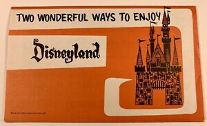 Vintage Disneyland Origanal 1964 Walt Disney Pamphlet Brochure Ticket Book Guide