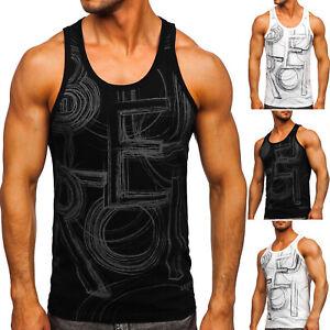 Tank Top T-Shirt Tee Tanktop Muskelshirt Achselshirt Aufdruck Herren BOLF Print