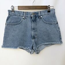 Vintage 90s J Crew Jean Shorts Womens Faded High Waisted Cut off Size 6