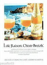 PUBLICITE ADVERTISING 116  1994   le Cidre Breton  Loic Raison