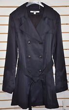 NWT Women's DKNY Double Breasted Trench Coat W/Hood(Detachable). Size XL, Navy