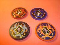 #4 Different BIOHAZARD-FLAMES design Poker Chip Golf Ball Marker's-Card Guard