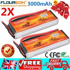 2X Floureon 3S 11.1V 3000mAh 30C Li-Po RC Battery For RC Car Airplane Boat Buggy