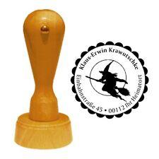 Stempel « HEXE 02 » Adressenstempel Motiv Name Halloween Walpurgisnacht Zauber