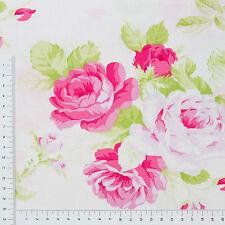 Rosen auf Weiß Serie Sadle Dance 100% Baumwolle Patchwork Stoff