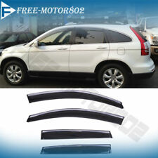 Fit 12-16 Honda CRV OE Style Window Visors Injection Deflector Chrome Molding