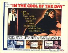 IN THE COOL OF THE DAY half sheet movie poster 22x28 JANE FONDA PETER FINCH 1963