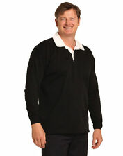 Polyester Long Sleeve Polo, Rugby Solid Casual Shirts for Men