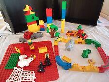 GROS LOT LEGO DUPLO ZOO BRIQUES VRAC OTARIE OURS HIPPOPOTAME CROCODILE KG PLAQUE